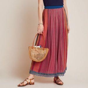 Anthropologie Red Mara Maxi Skirt Tanvi Kedia M